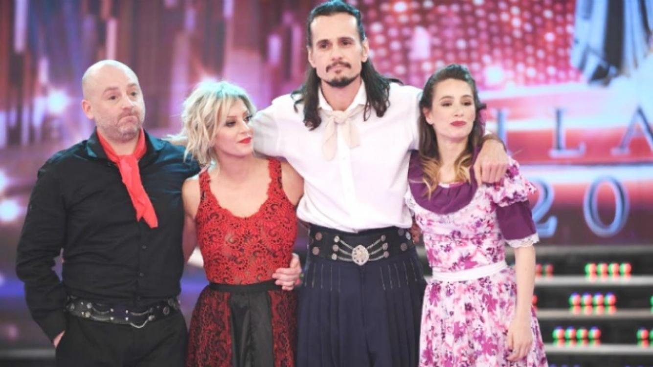 José María Muscari y Noelia Marzol, junto a Christian Sancho en el duelo telefónico del Bailando (Foto: Prensa Ideas del Sur)