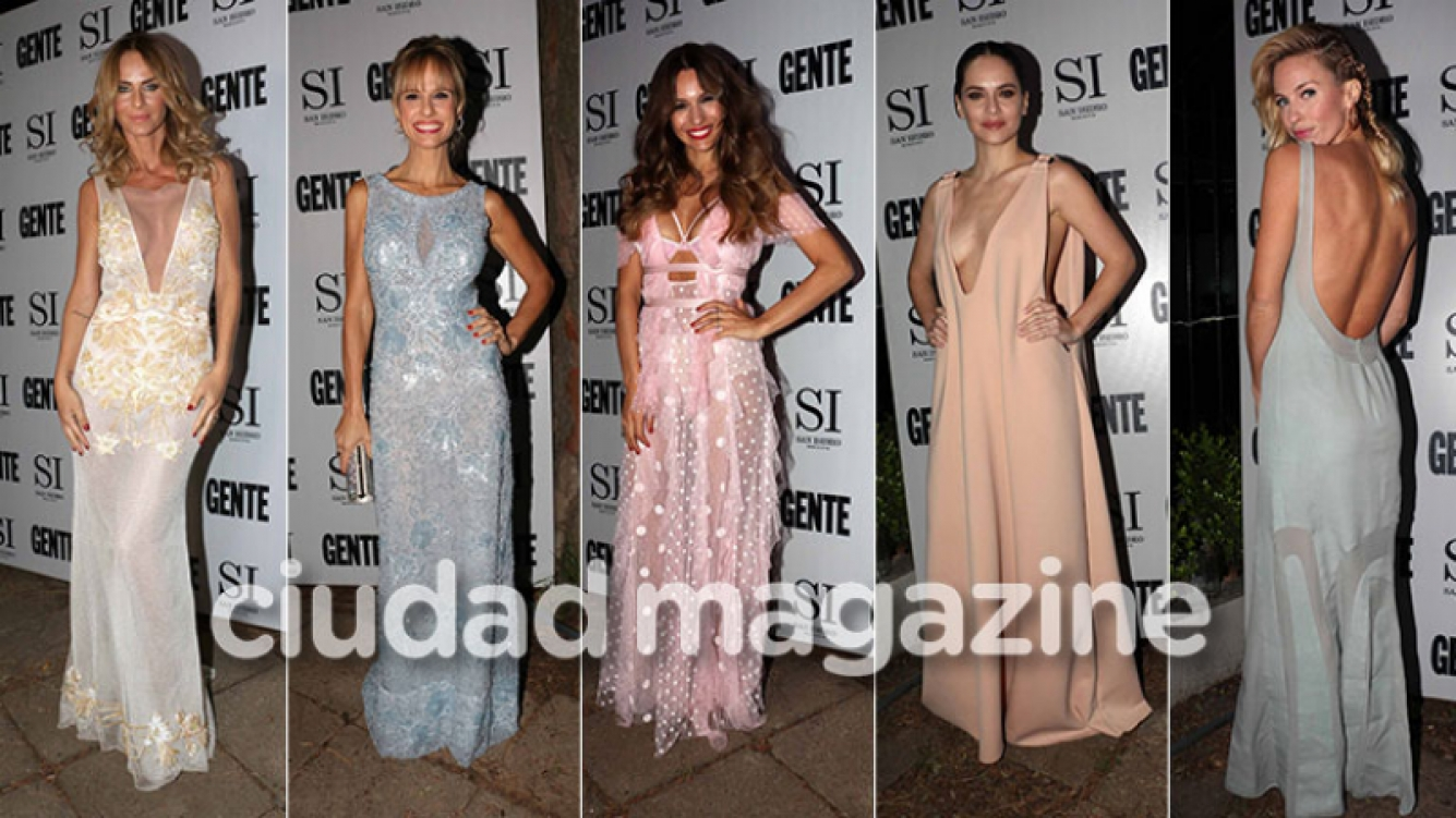 ¡Pura belleza y elegancia! Las diosas sexies de la gala de revista Gente: ¡espiá sus looks! (Fotos: Movilpress)