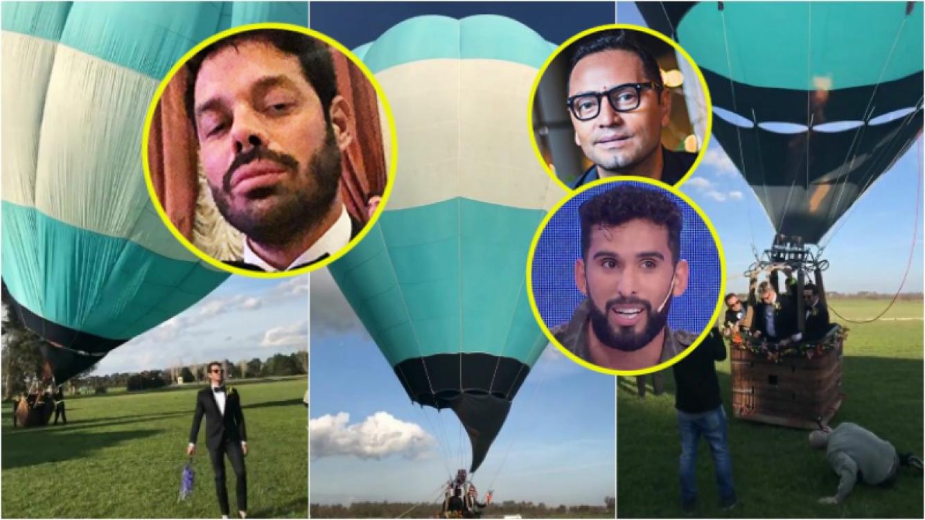 Integrantes de La Jaula de la moda grababan un musical en un globo aerostático… ¡y se perdieron! Foto: Instagram