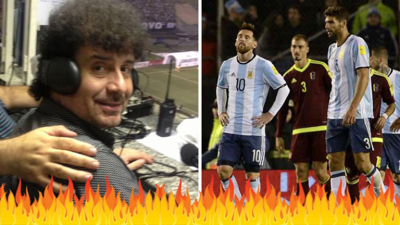 Daniel Mollo, furioso con los jugadores de la Selección tras el empate ante Venezuela. (Foto: YouTube)