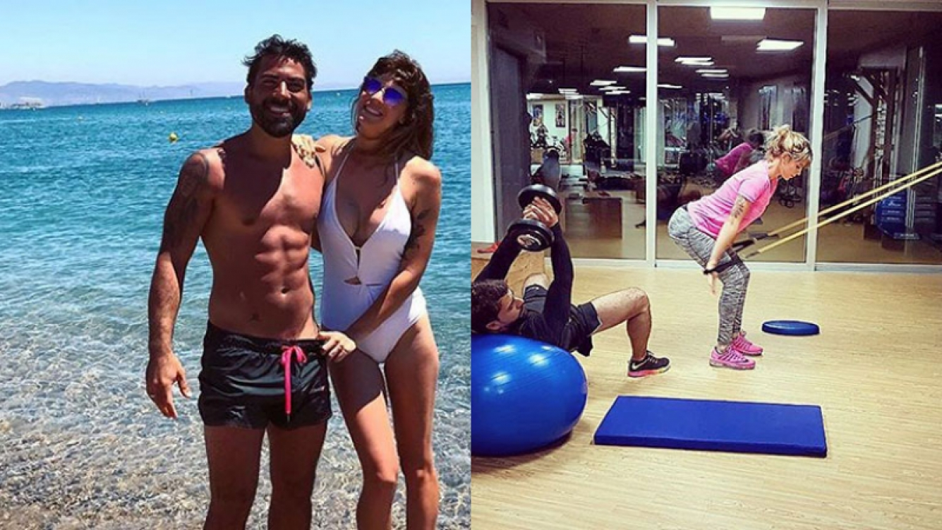 Juliana Giambroni y Matías Di Chiara, enamorados y en forma.
