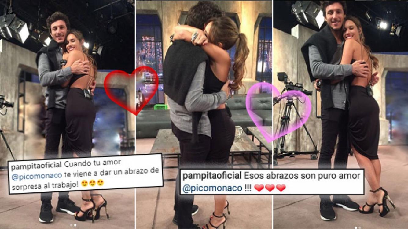 Pampita y Pico Mónaco, show de mimos en TV.