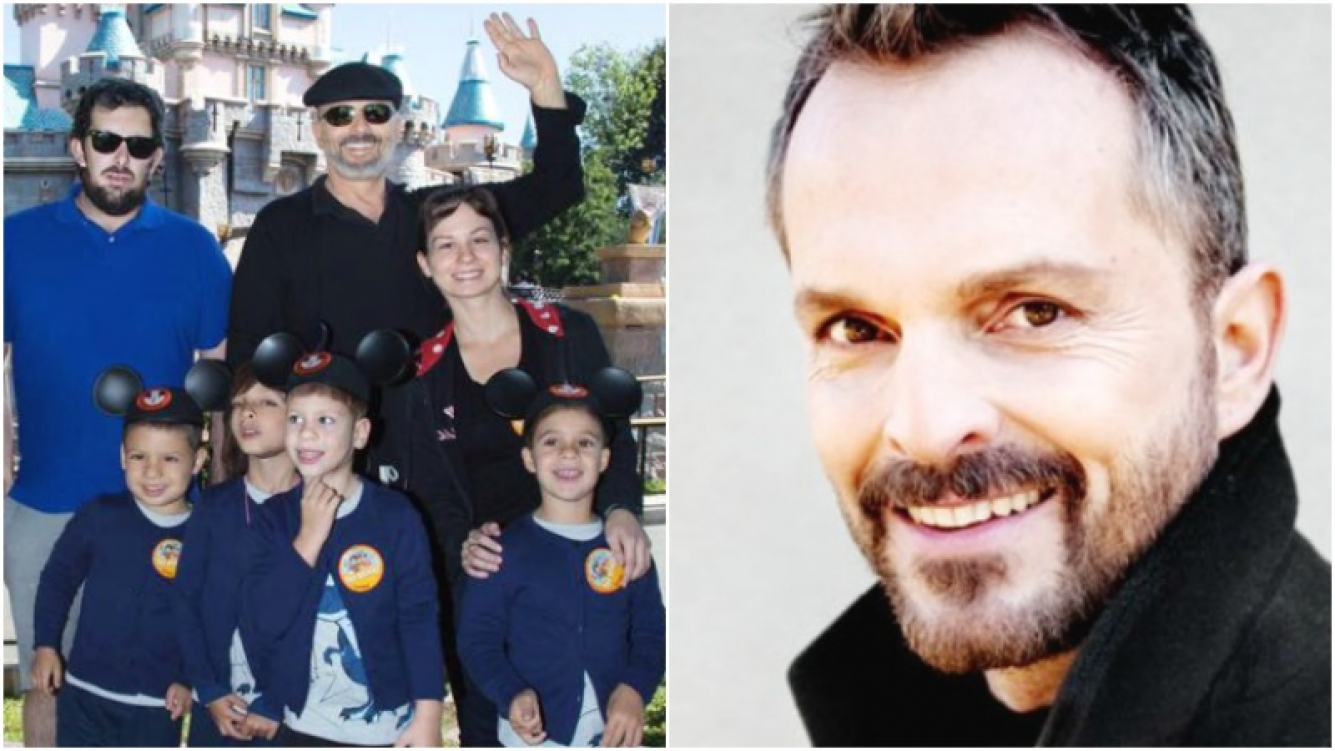Muestra Miguel Bosé rostro de sus hijos ante extorsión