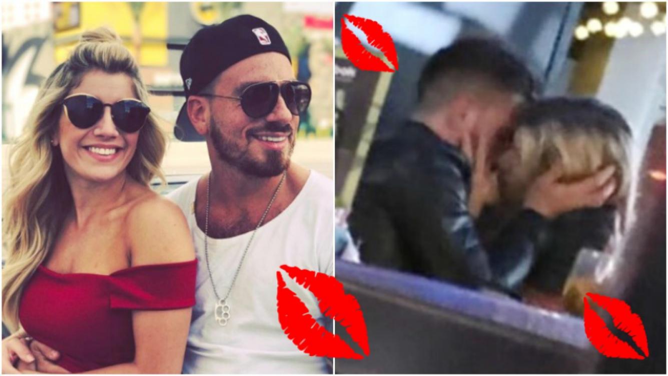 El beso de Fede Bal y Laurita Fernández tras la reconciliación (Fotos: Instagram y Twitter)