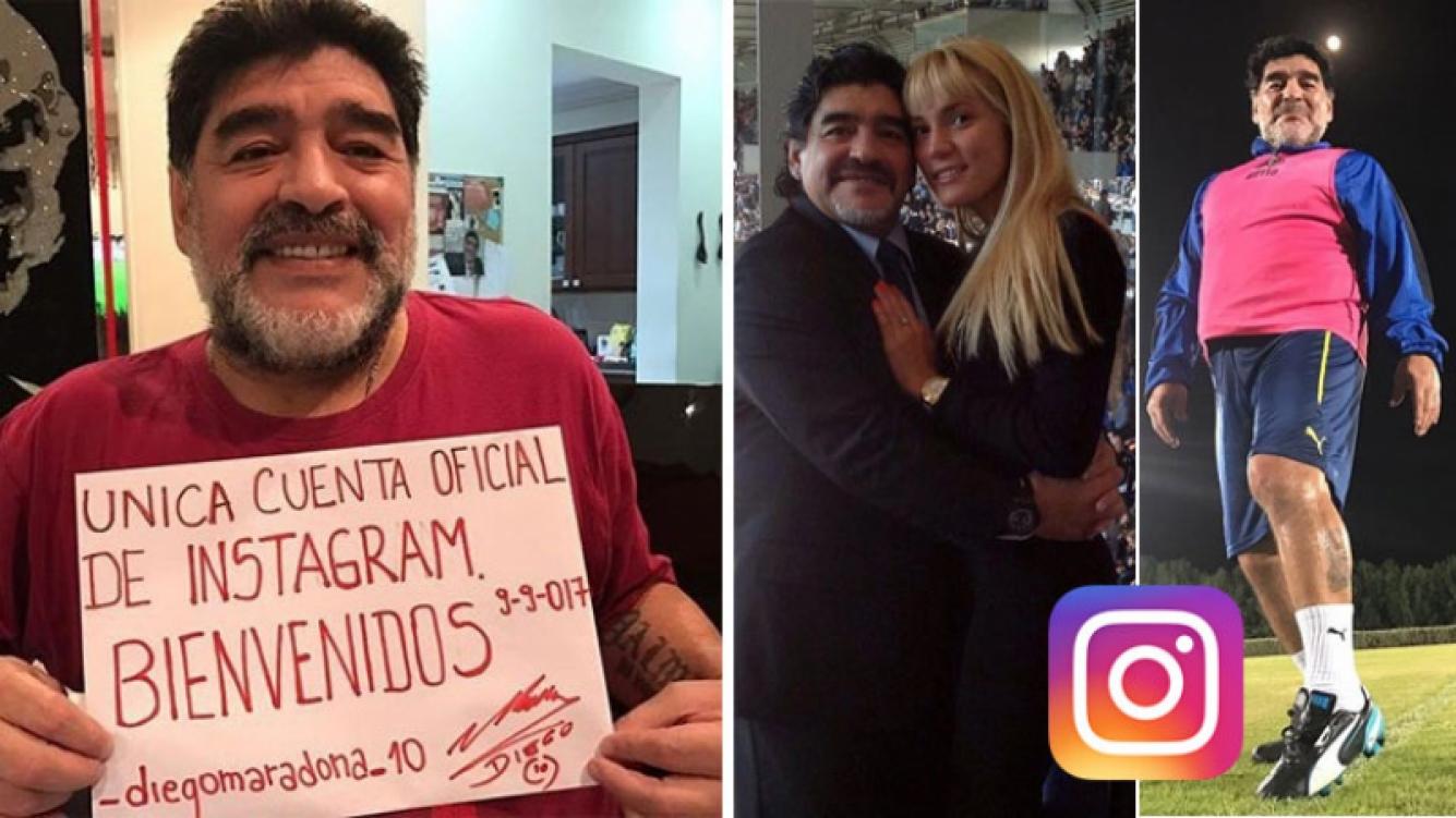 Maradona abrió su cuenta oficial en Instagram. (Foto: Instagram)