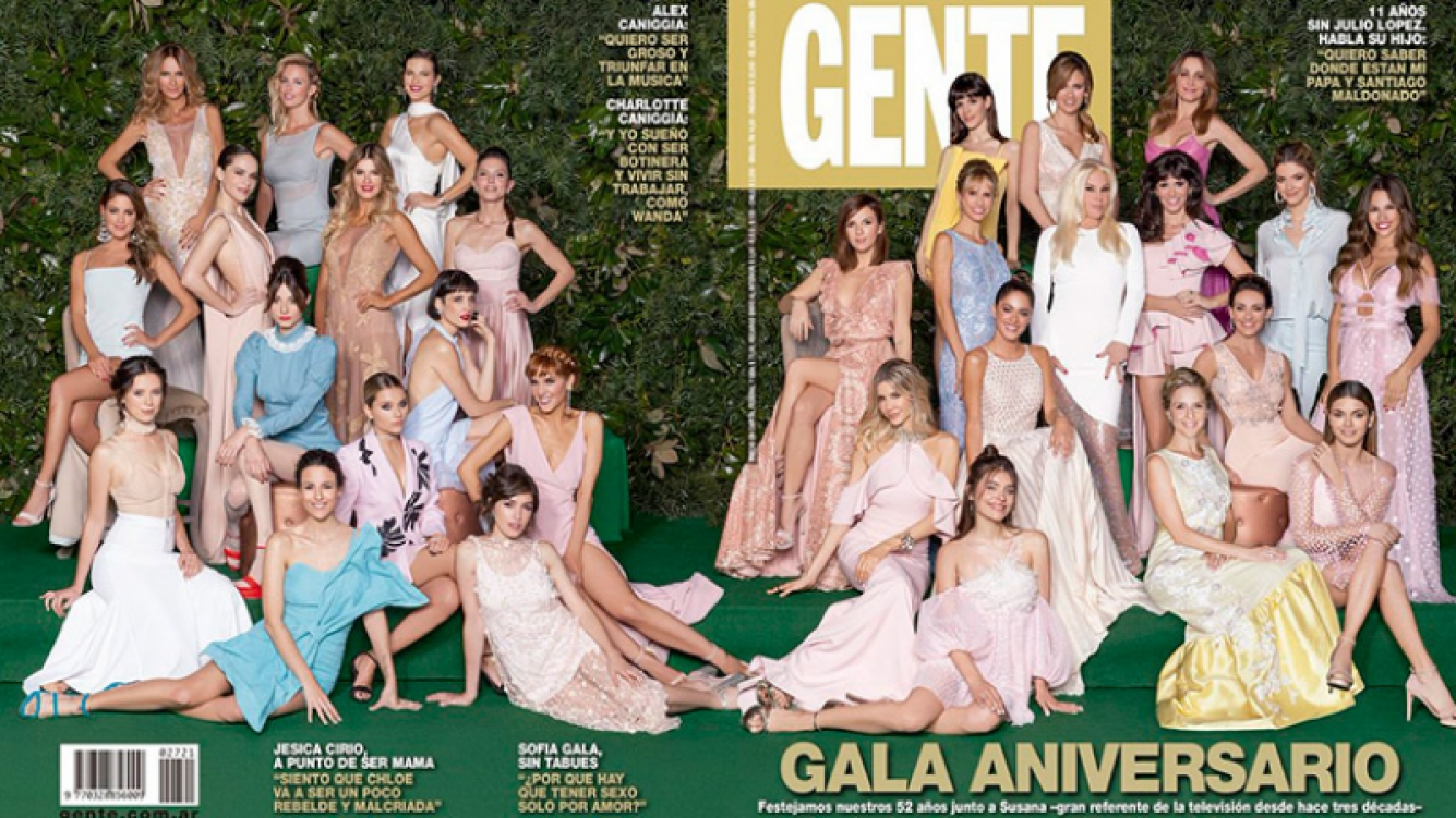 La doble portada de la revista Gente en homenaje a Susana Giménez.