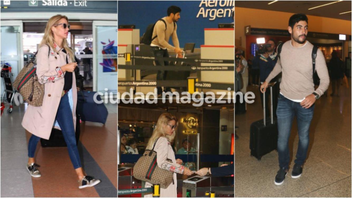 Facundo Moyano partió a España, unas horas después del vuelo de Nicole Neumann. Foto: Movilpress