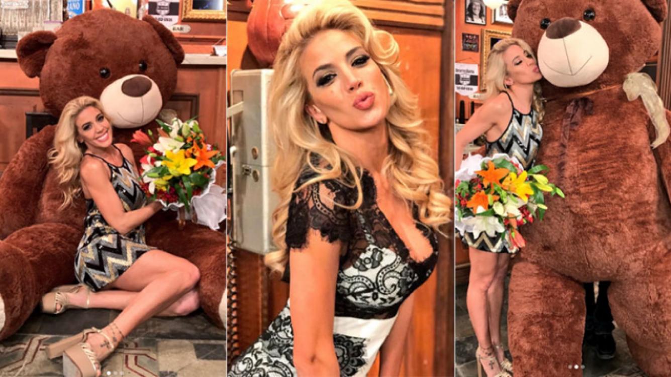 Virginia Gallardo recibió un romántico regalo de un admirador secreto