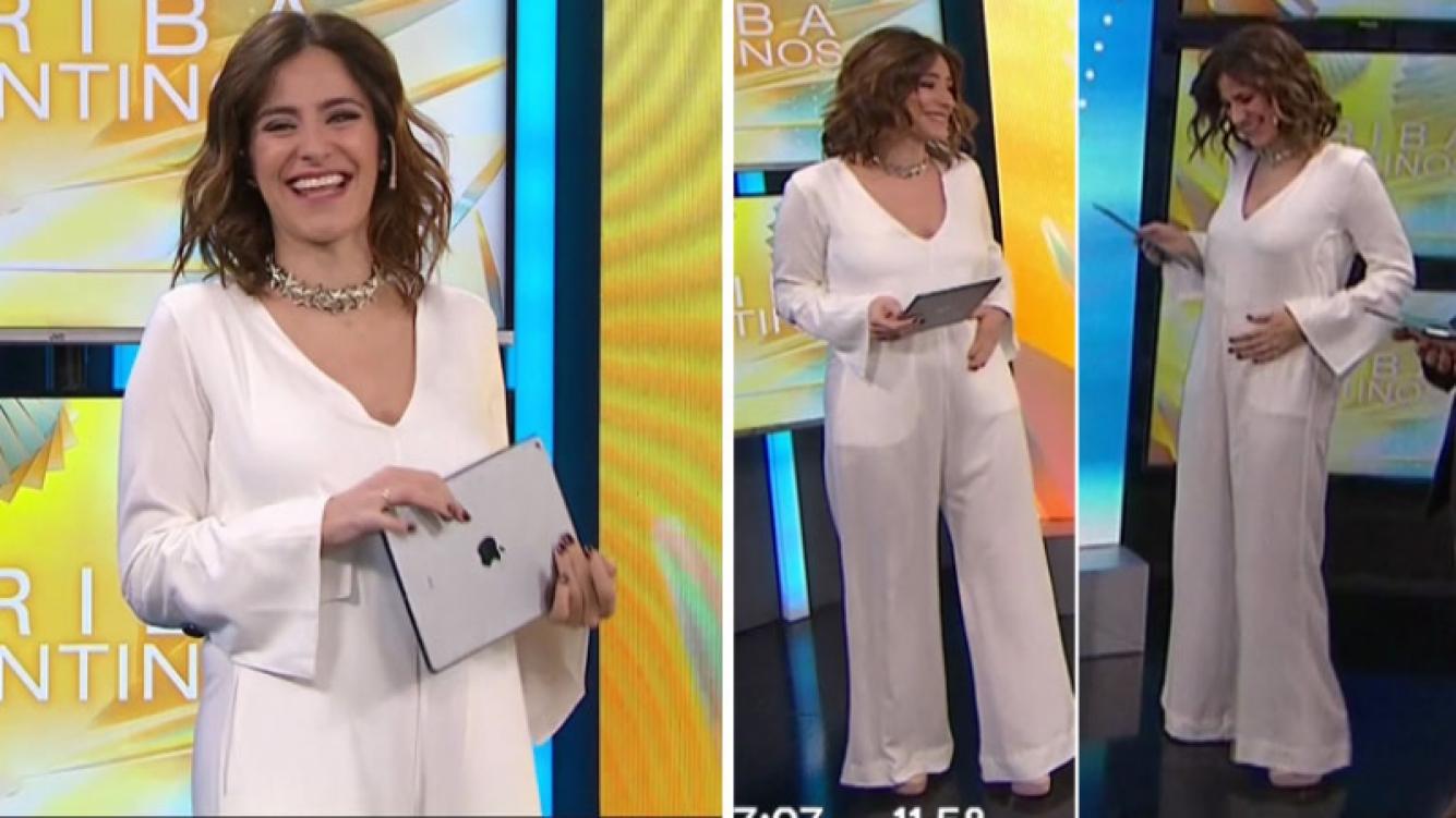 Agustina Muda, la conductora de Arriba Argentinos, anunció su embarazo en vivo