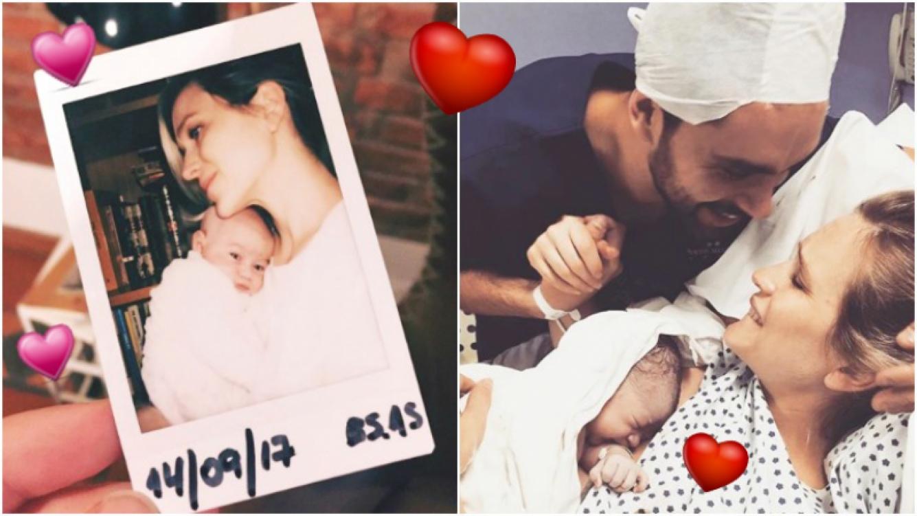 La tierna foto de la hija de Brenda Gandini y Gonzalo Heredia, a 22 días de su nacimiento (Fotos: Instagram)