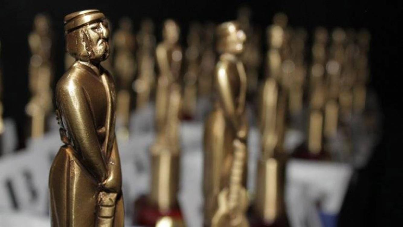 Las 28 estatuillas esperan por sus ganadores. Además, estará el Martín Fierro de Oro.