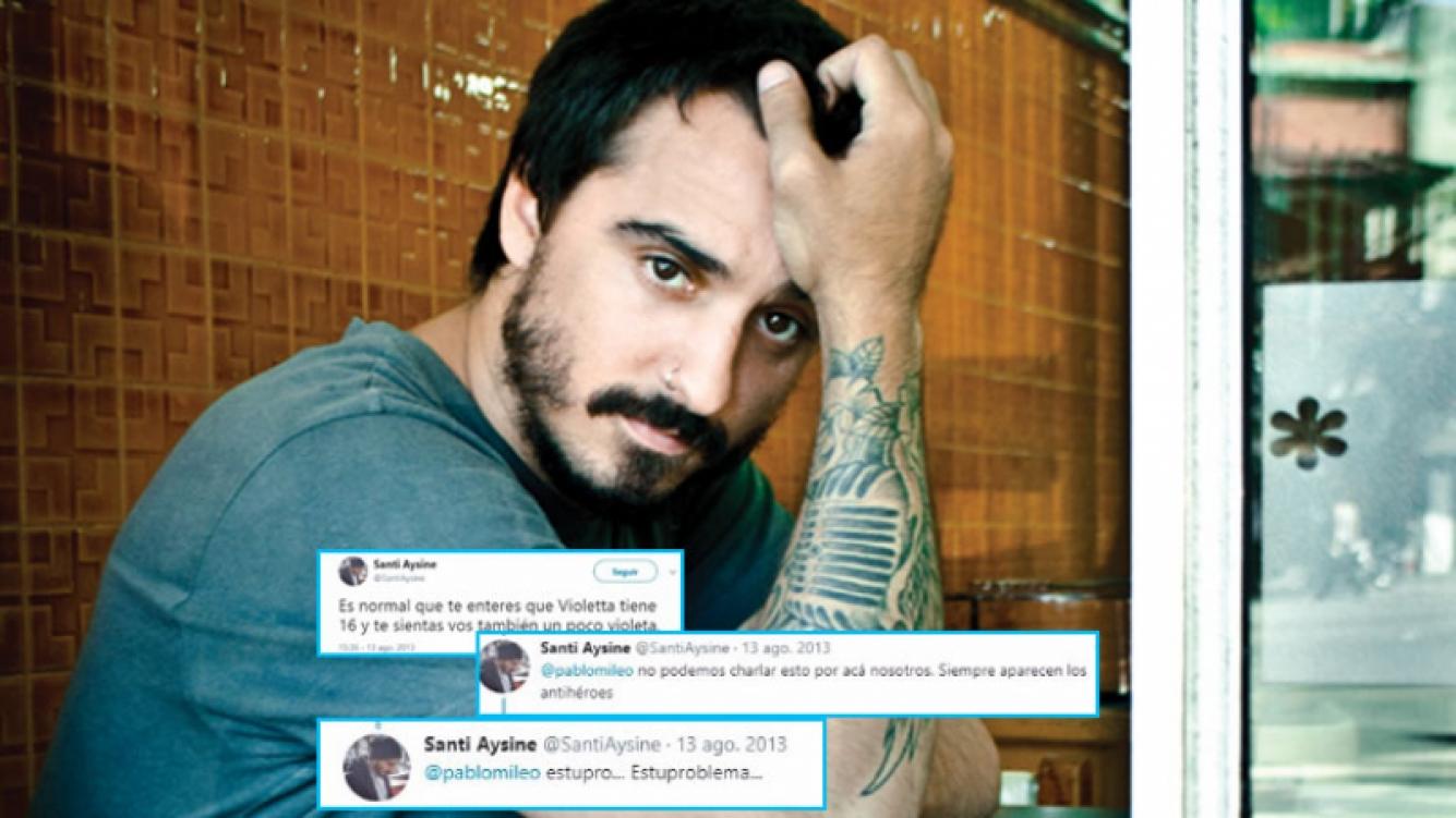Santiago Aysine y un polémico tweet de 2013 sobre Tini Stoessel.