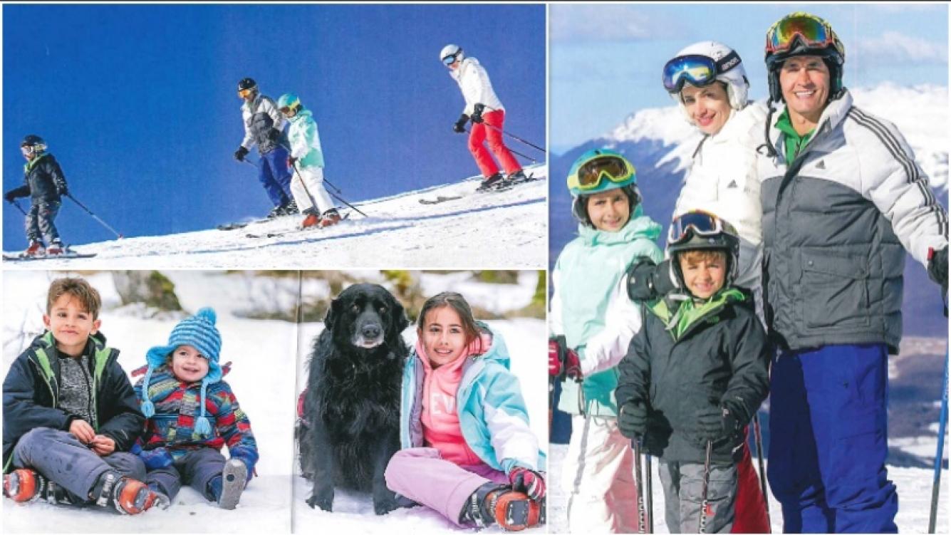 El álbum de las vacaciones de Sebastián Estevanez y su familia en el Cerro Castor (Fotos: revista Caras)