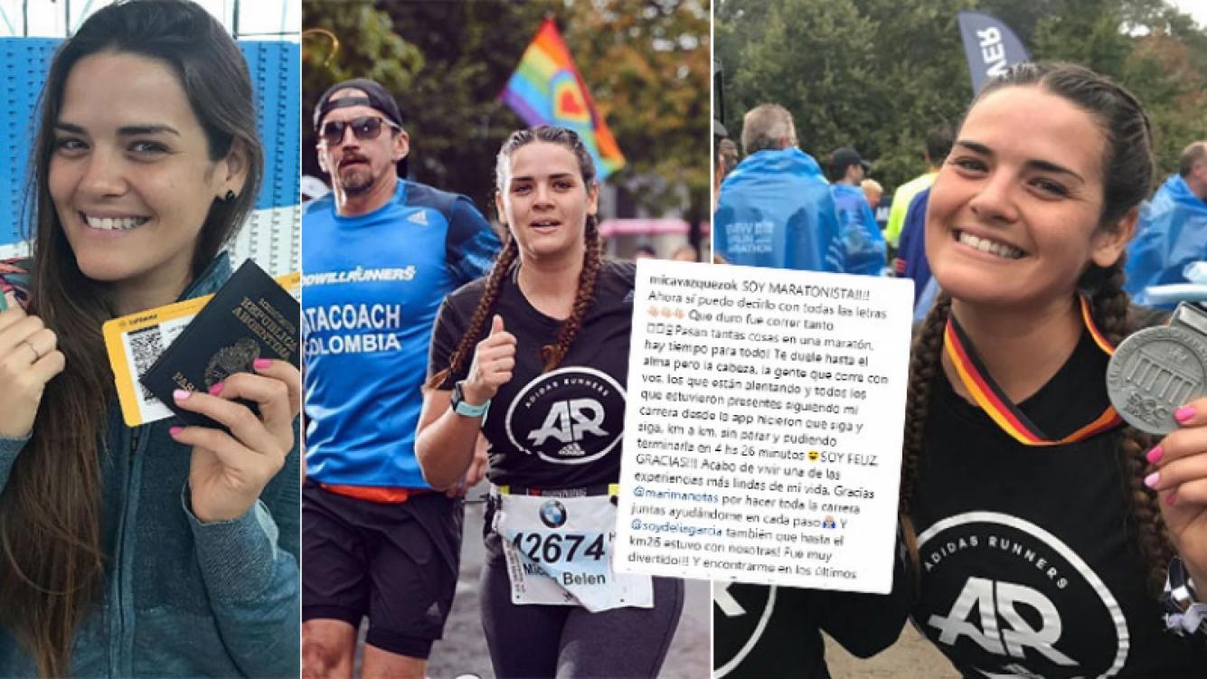 La emoción de Mica Vázquez tras correr una maratón en Berlín