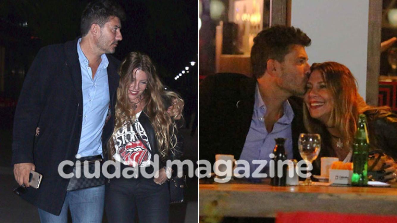 Mónica Ayos y Diego Olivera, cena y paseo romántico por Puerto Madero (Foto: Movilpress)