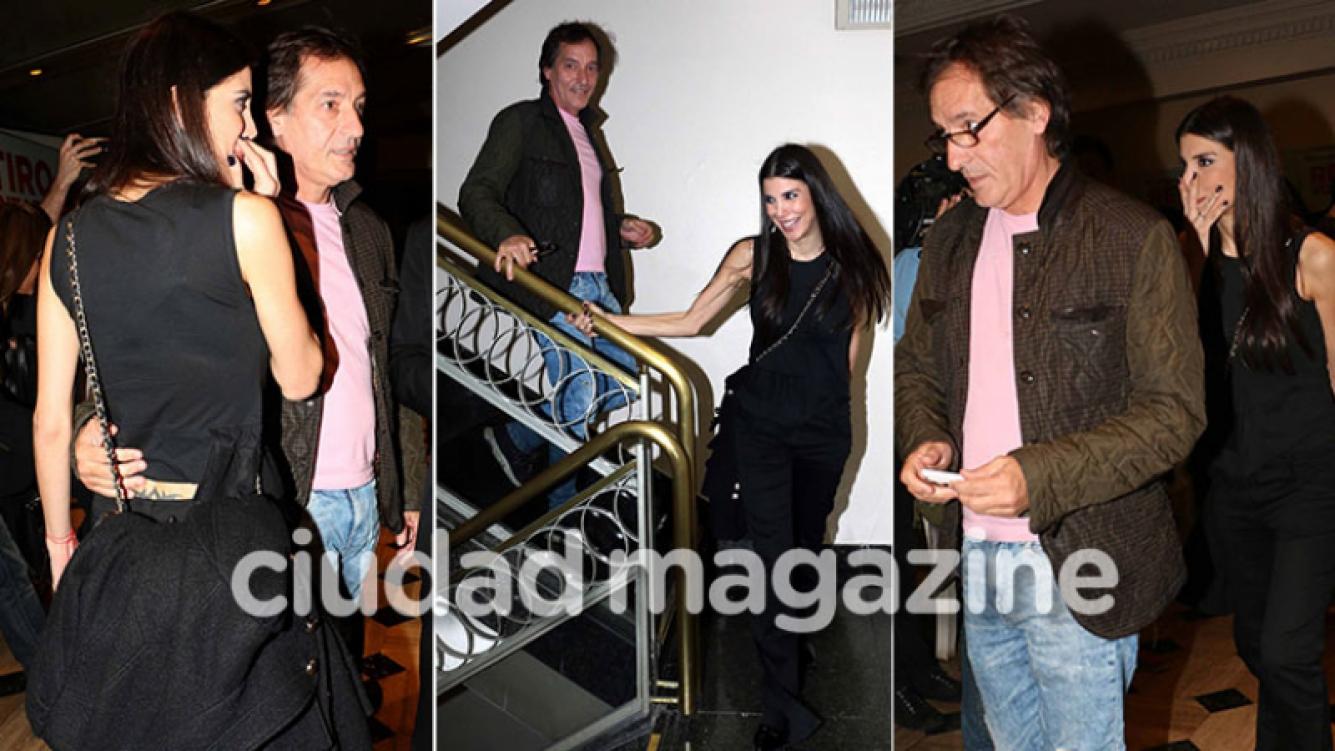 Andrea Rincón, muy cerca del productor de cine Pablo Bossi (Fotos: Movilpress)