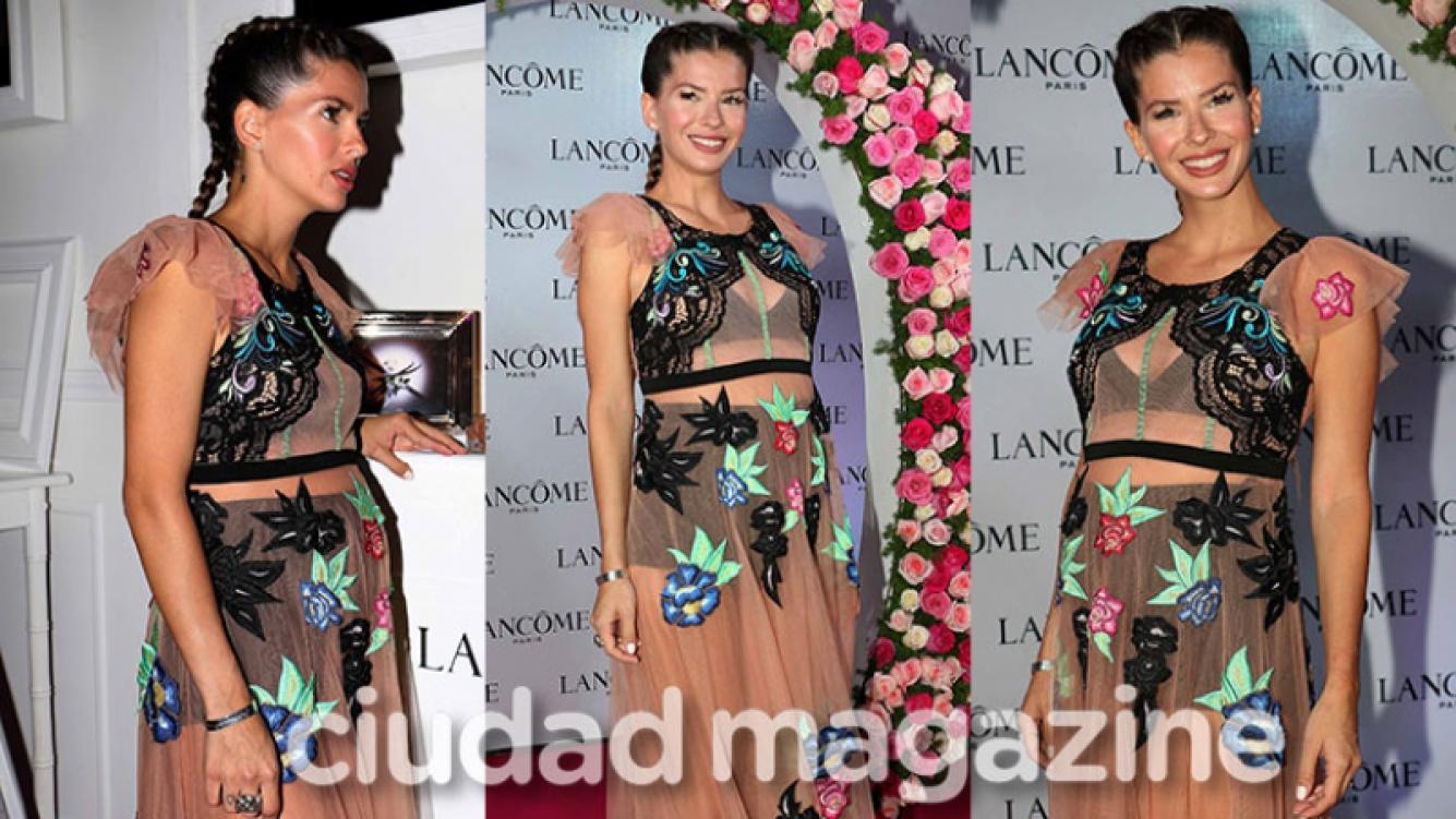 La China Suárez, divina con transparencias y pelo recogido (Fotos: Movilpress).