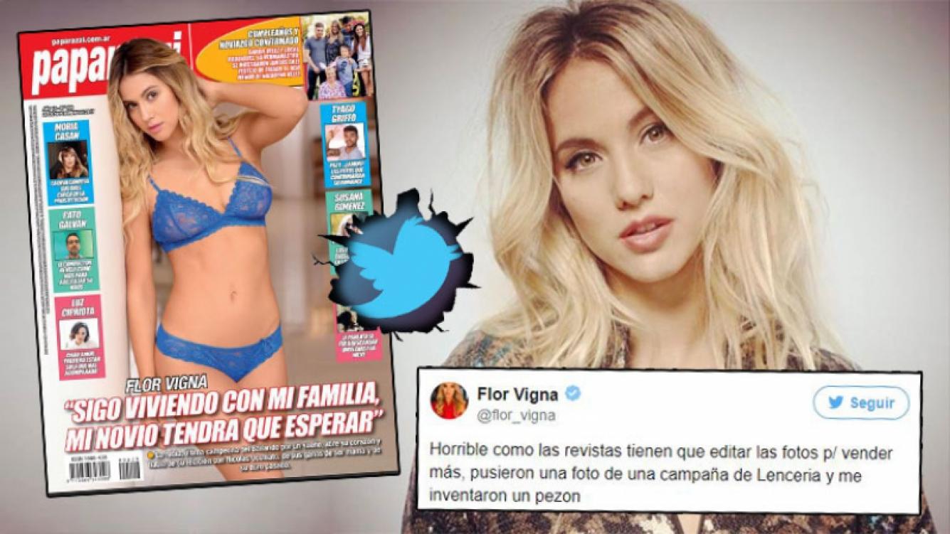 El arranque de furia de Flor Vigna contra la tapa de la revista Paparazzi