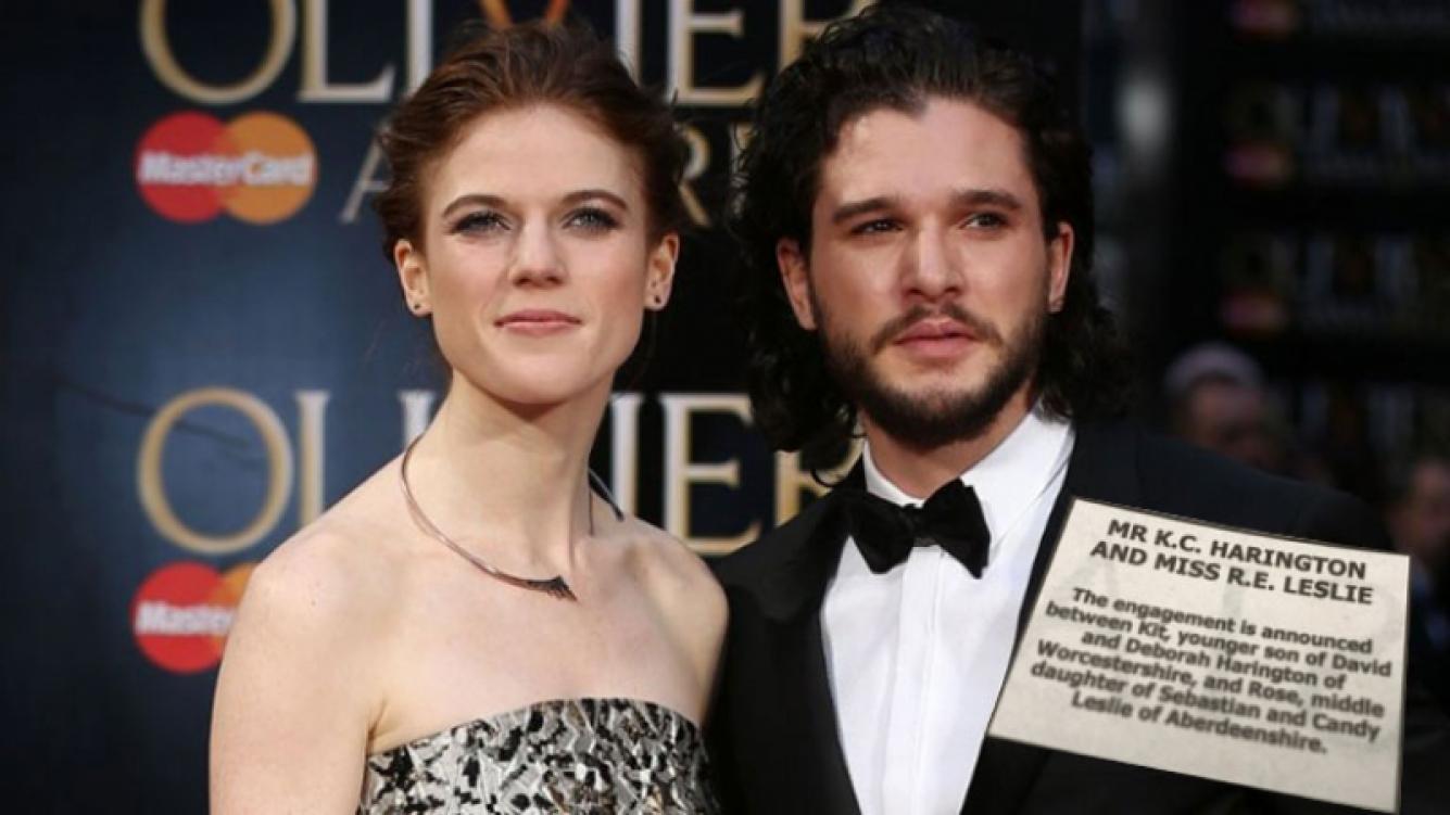 Kit Harington y Rose Leslie, de Game of Thrones, anunciaron su compromiso ¡en el diario!