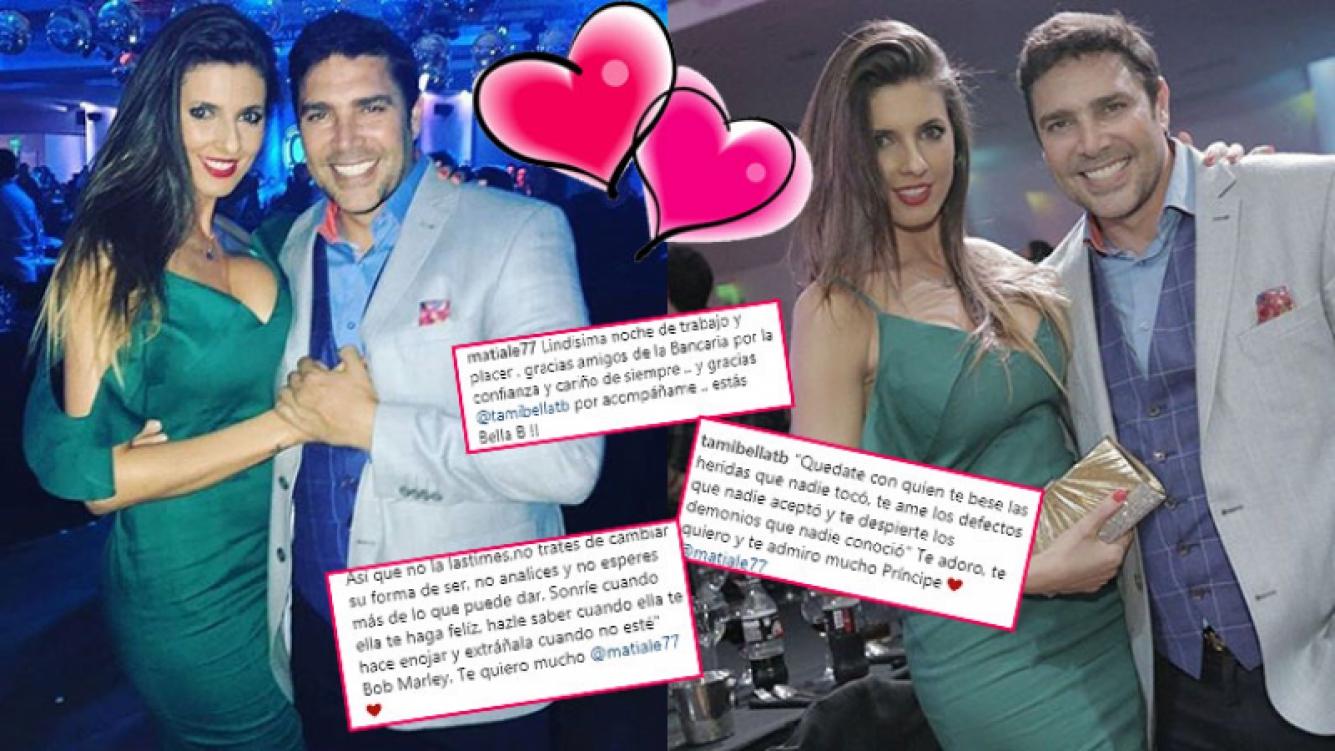 Matías Alé y Tamara Bella, muy enamorados en las redes sociales (Fotos: Instagram).