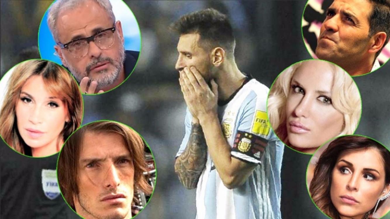 ¡Entre el enojo y la desolación! Los tweets de los famosos por el cero a cero de Argentina con Perú