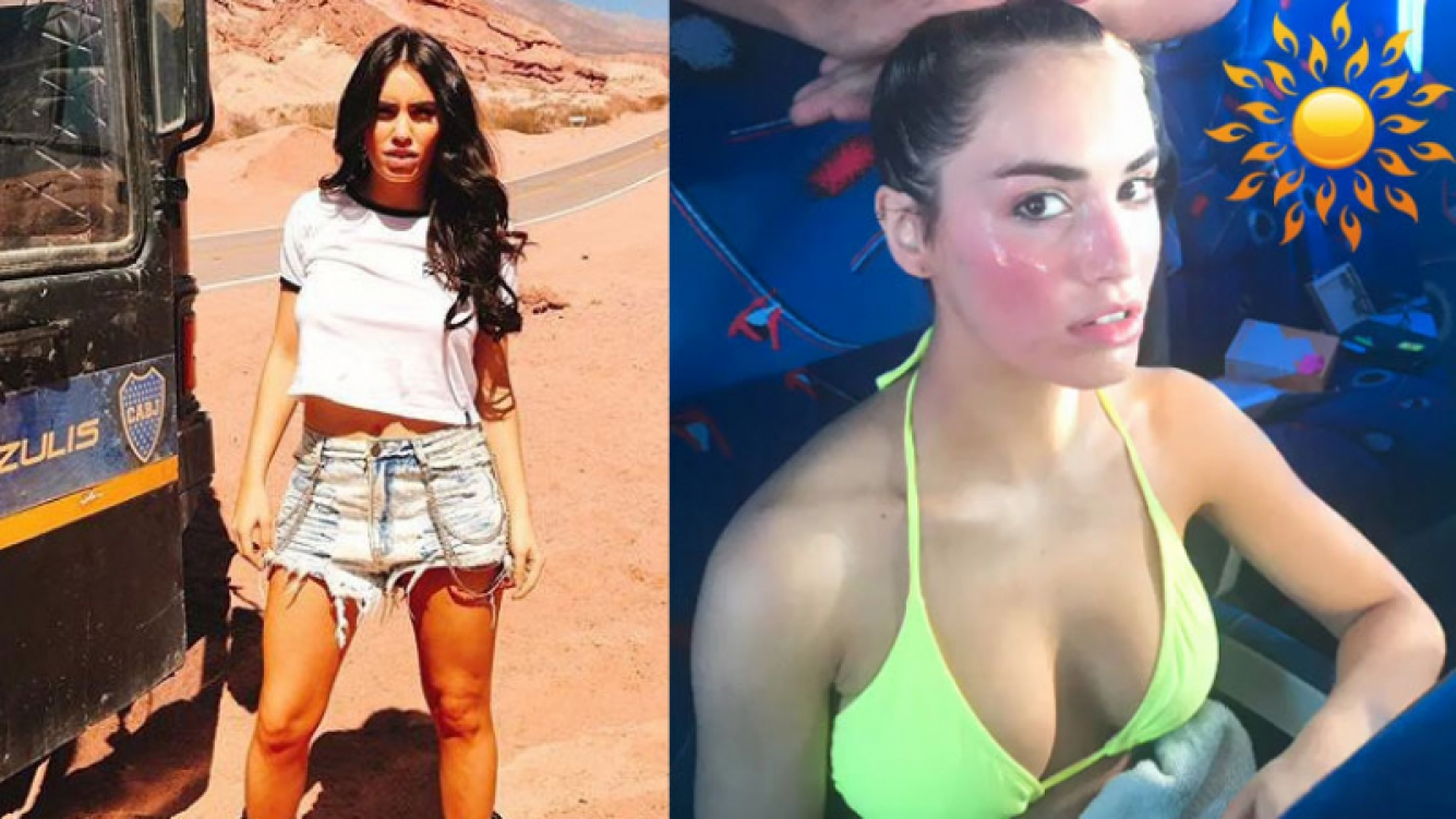 Lali Espósito, insolada y sexy luego del rodaje de Una na. (Foto: Instagram)