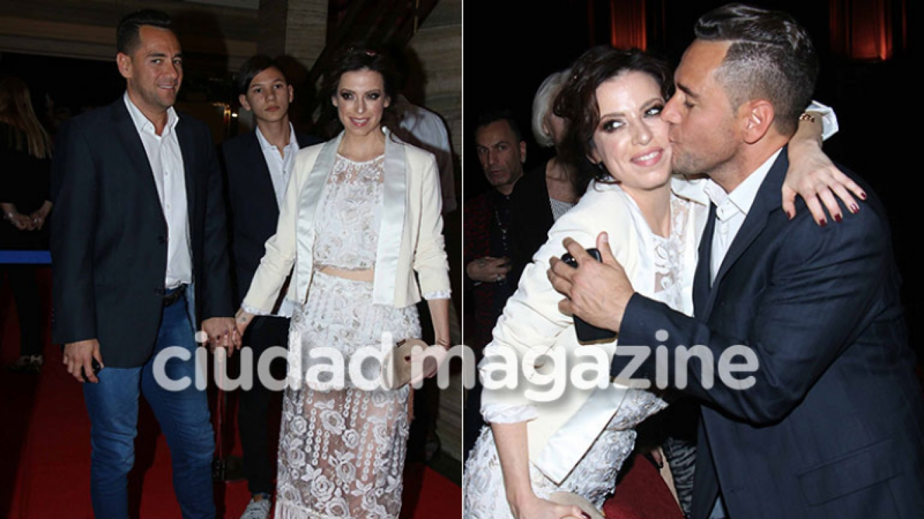 Mercedes Funes, enamorada y mimosa con Cecilio Flemati en la avant premiere de su película