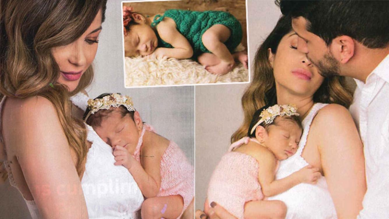 La primera producción de Vanesa Carbone con su hija recién nacida (Fotos: Paparazzi)