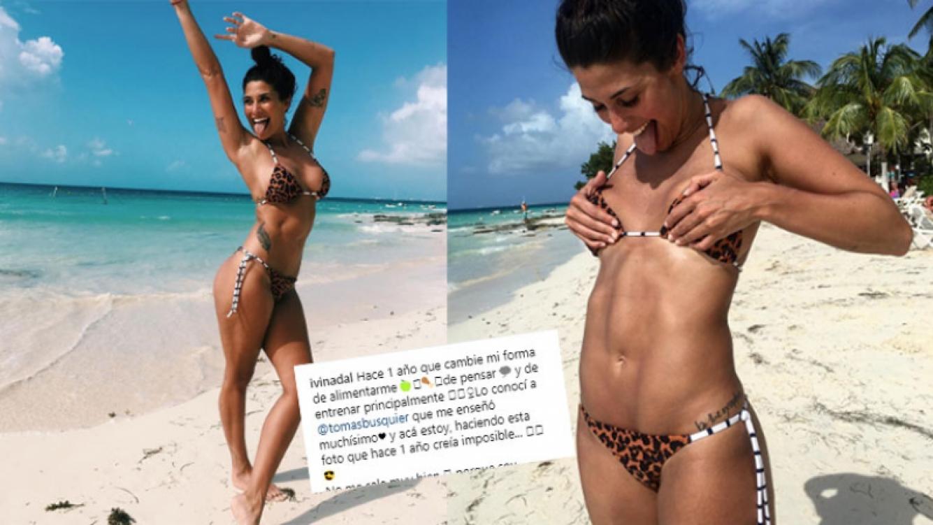 Ivana Nadal, una diosa fitness con abdominales de acero: Acá estoy, haciendo esta foto que un año atrás creía...