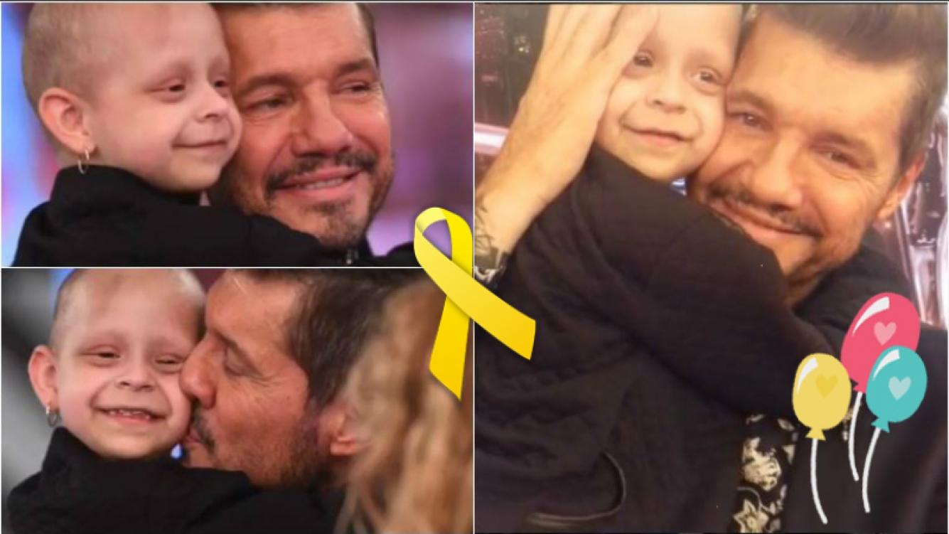 """El emotivo encuentro de Tinelli con una nena que padece cáncer: """"Hermoso conocer a Anahí, está en tratamiento y es puro amor"""""""