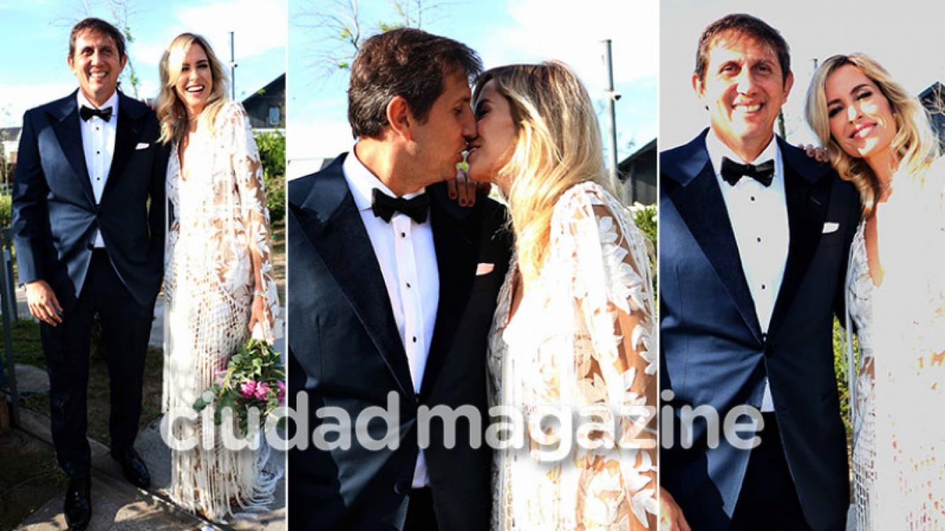 ¡Recién casados! Los looks de Juan Pablo Varsky y su flamante esposa, Lala Bruzoni en su multitudinaria boda. (Foto: Movilpress)