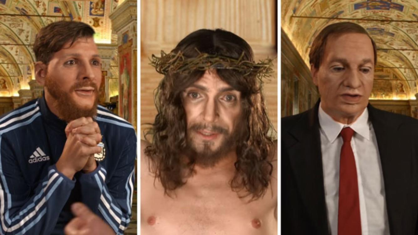El desopilante sketch de Martín Bossi como Messi, Bilardo, el Papa y Jesús