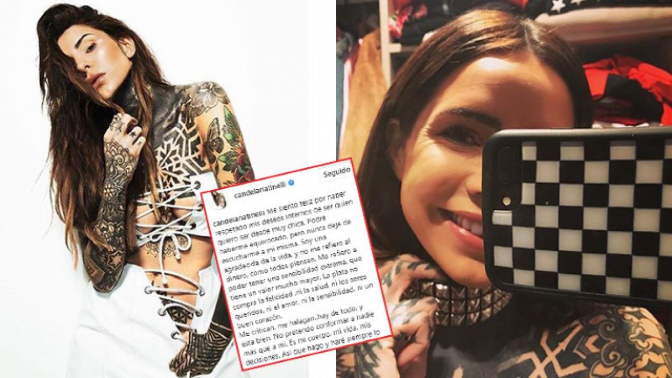 Cande Tinelli abrió su corazón en Instagram y defendió su personalidad: Soy quien quiero ser desde muy chica. La...