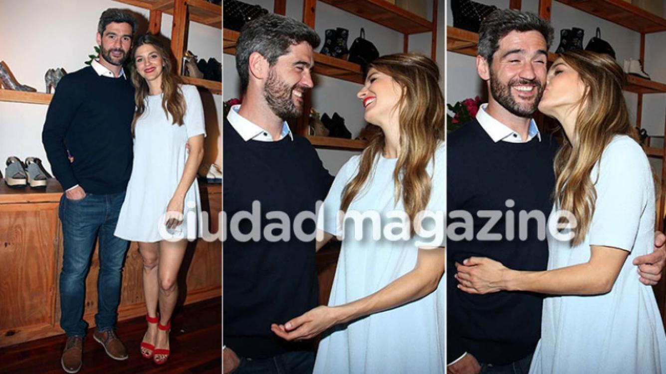 Marcela Kloosterboer, besos y complicidad con Fernando Sieling en la presentación de la nueva colección de su marca