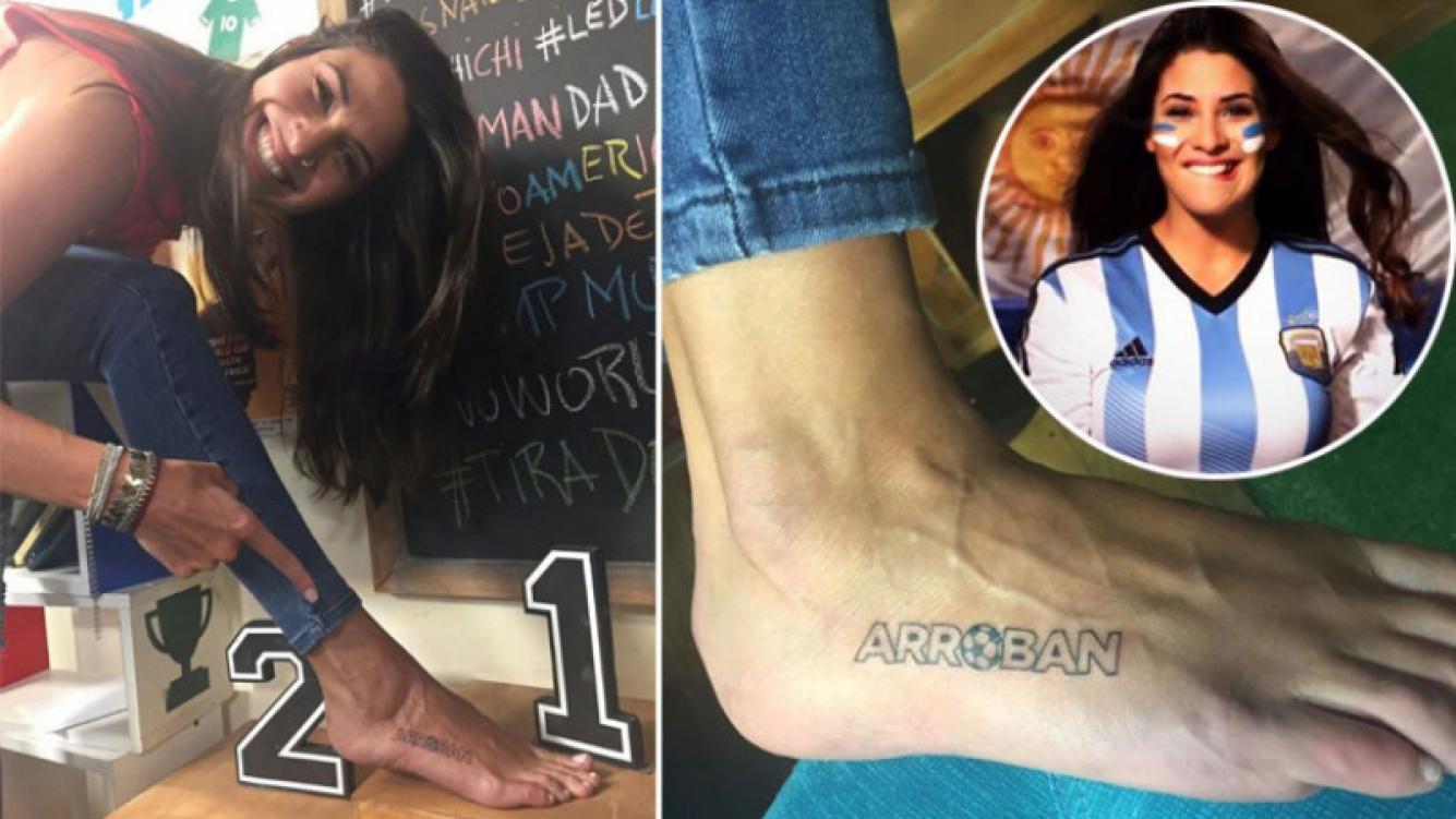 Ivana Nadal prometió que se iba a tatuar si Argentina clasificaba al Mundial.