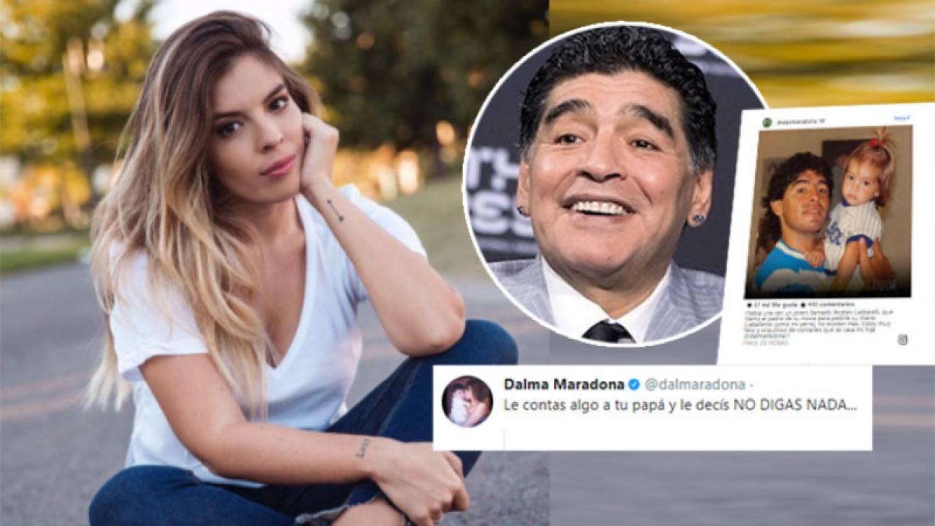 La reacción de Dalma después de que Diego Maradona anunció su casamiento ¡sin su permiso!: Le contás algo a tu...