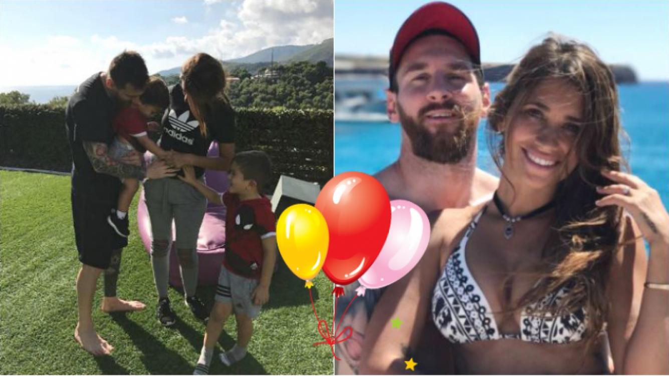 """¡Mirá la tierna foto con que lo anunciaron! Lionel Messi y Antonela Roccuzzo, en la dulce espera de su tercer hijo: """"Familia de cinco"""""""