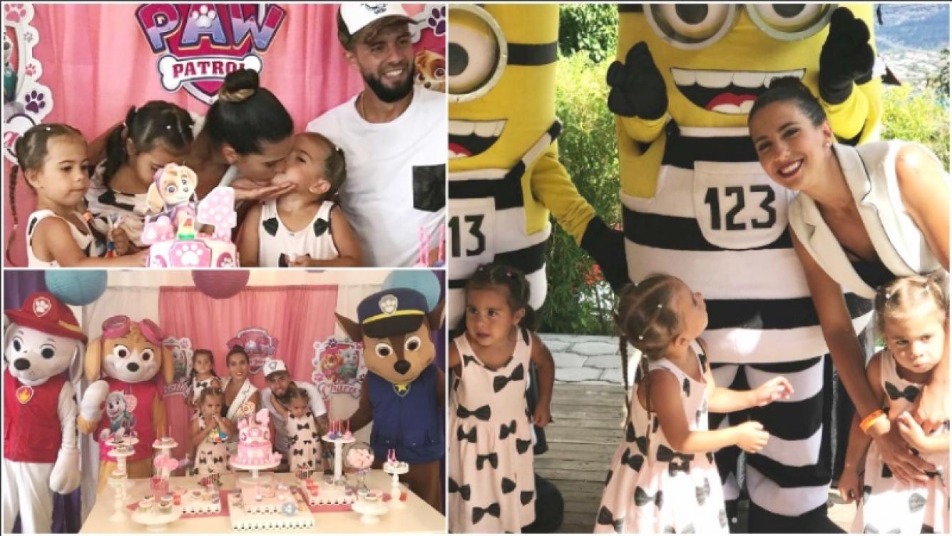 Las fotos de la fiesta temática de las gemelas de Cinthia Fernández y Matías Defederico en Ecuador (Fotos: Instagram)