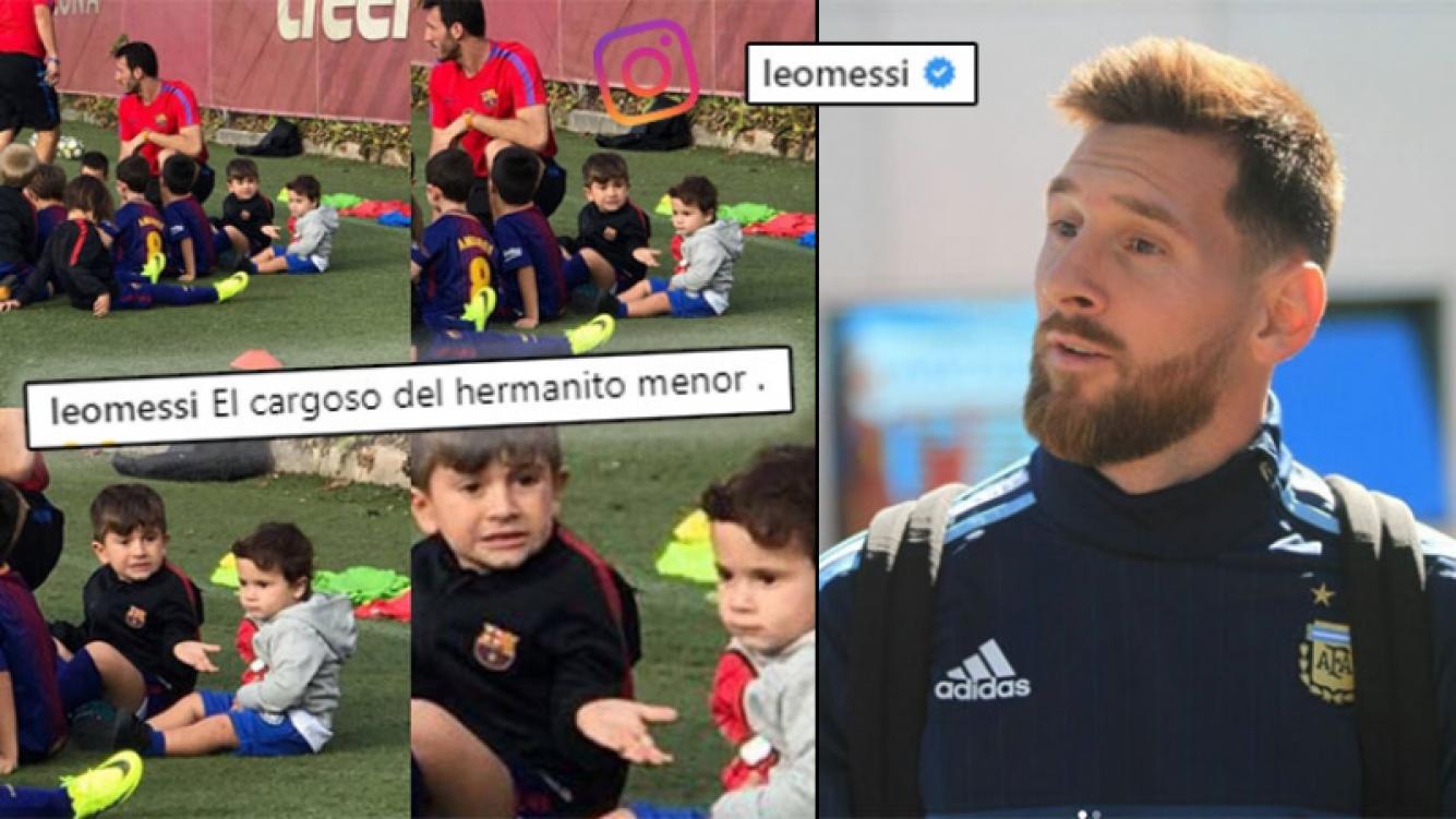 ¡Más clásico que Barcelona-Real Madrid! Messi y la divertida foto de sus hijos en la escuelita de fútbol