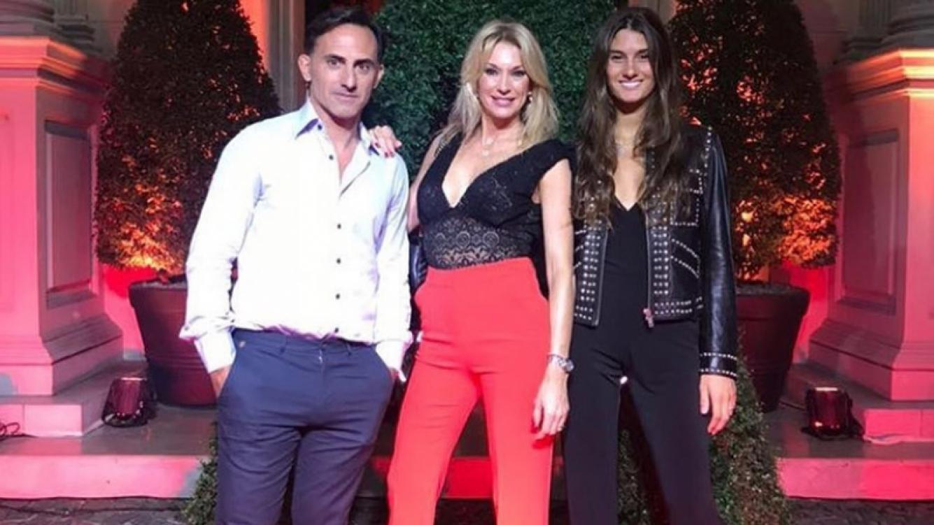 Diego, Yanina y Lola Latorre, juntos en un evento. (Fotos: Cuika Foto)
