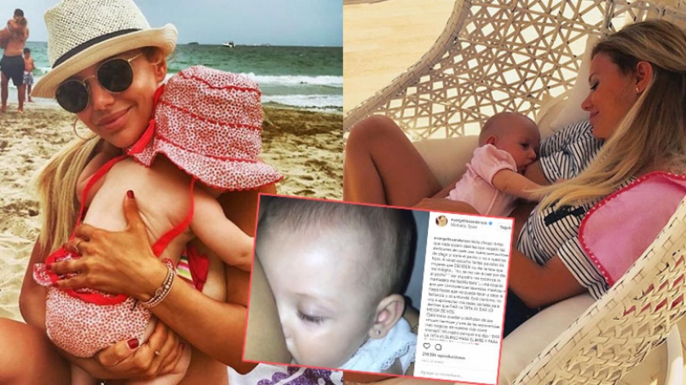 Evangelina Anderson en una dulce y fuerte defensa de la lactancia materna: Dar la teta es dar lo mejor de vos