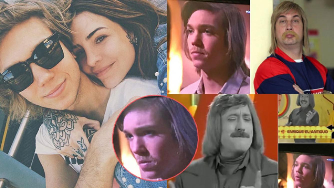 """Las divertidas """"gastadas"""" de Cande Tinelli a Franco Masini por su look de bigotes en Cuéntame cómo pasó"""