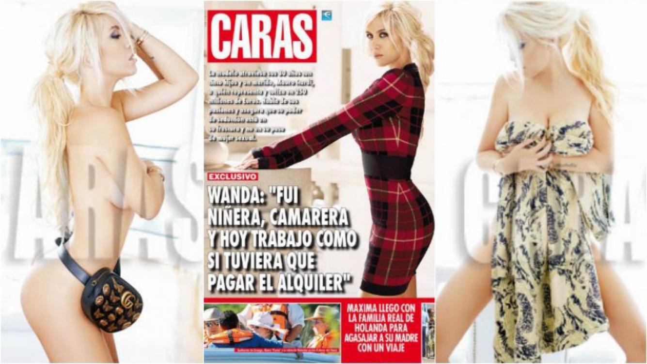 Wanda Nara, tapa al desnudo en Caras , picantes confesiones… ¿y exceso de Photoshop? Foto: Caras