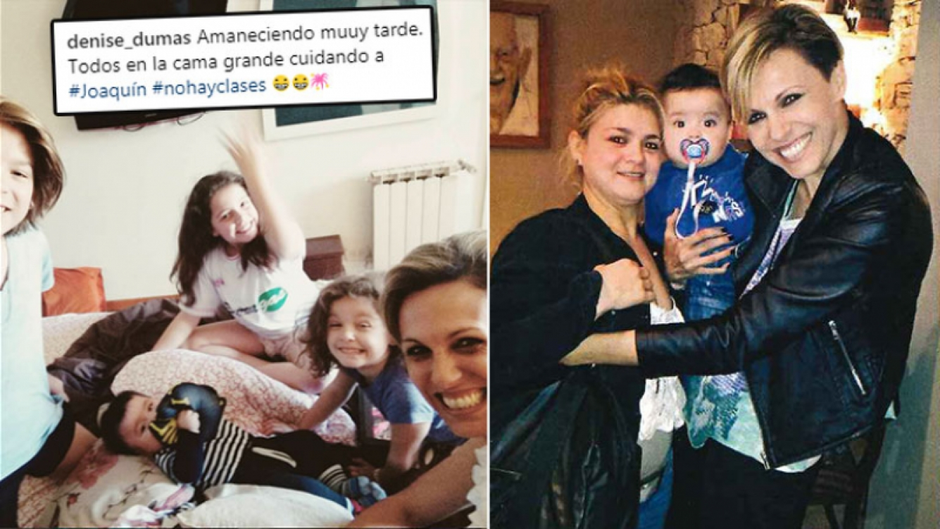 ¡Singular historia! Denise Dumas cuida al bebé… ¡de su niñera! (Foto: Web y revista Pronto)