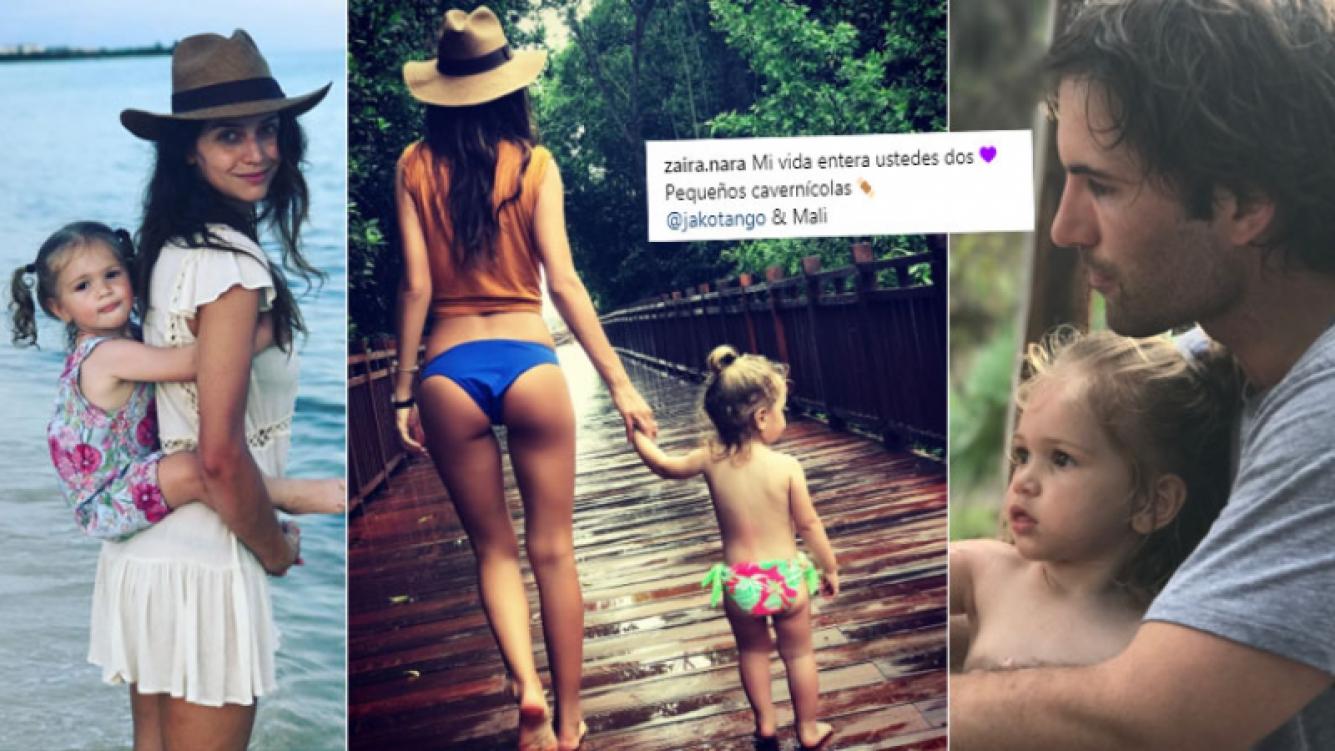 Zaira Nara, vacaciones familiares en México y declaración de amor: Mi vida entera, ustedes dos, Mali y Jakob