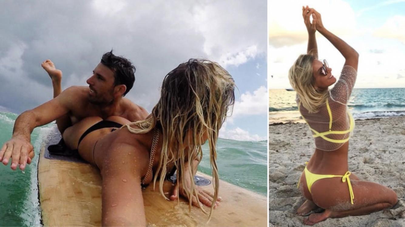 Las fotos súper sexies de Noelia Marzol y su novio en su mini luna de miel en Miami