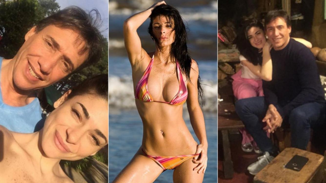 Fabián Gianola y Virginia Álvarez se sacaron estas dos fotos en Tandil. (Fotos: TV Show y Facebook)