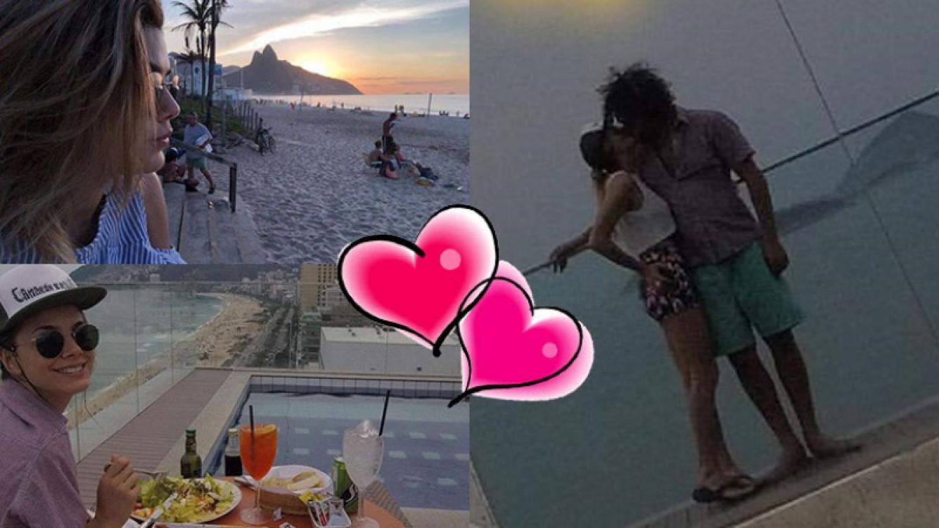 La escapada romántica de Natalie Pérez y su novio a Brasil