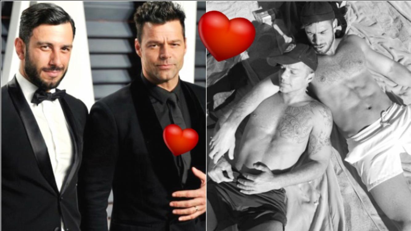 Ricky Martin y su novio, a puro amor y relax en las playas de Malibú (Fotos: Instagram)