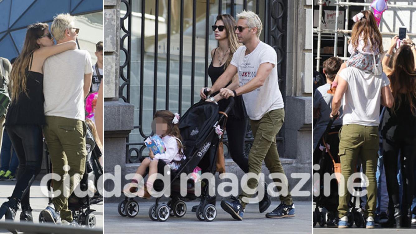 ¡Amor ensamblado! Benjamín Vicuña, China Suárez y Rufina Cabré: paseos en familia por las calles de Madrid. (Fotos: Grosby Group)